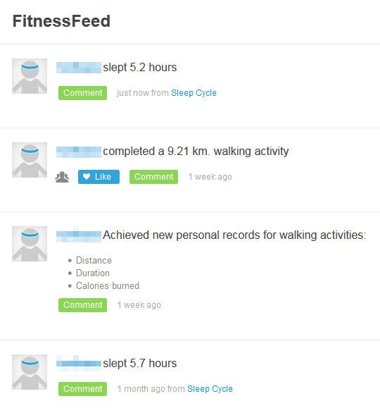 RunKeeperのアクティビティ