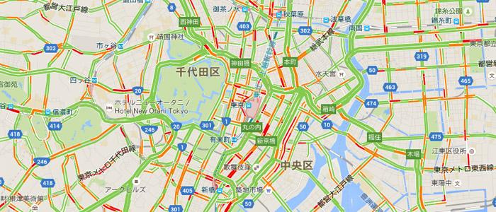 グーグルマップに渋滞状況を表示する方法[iPhone/PC]