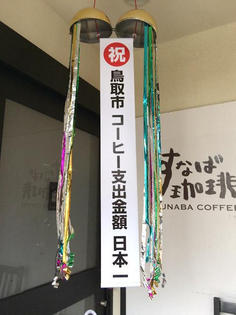 鳥取市コーヒー支出額金額日本一