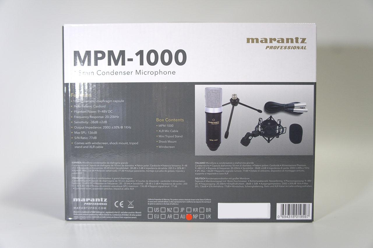 Marantz MPM-1000 外箱裏