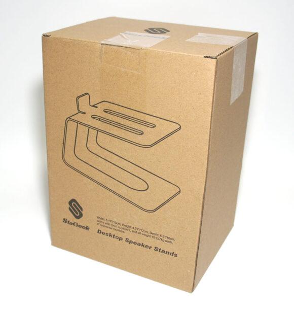 Stageekデスクトップスピーカースタンド 外箱